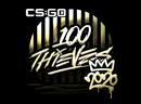 Наклейка   100 Thieves (золотая)   РМР 2020